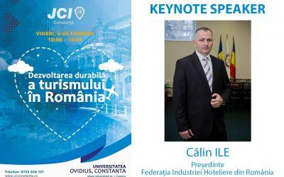 Călin ILE, președintele Federației Industriei Hoteliere din România este keynote speaker al Conferinței Naționale JCI România 2017